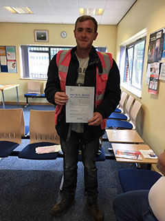 Daniel Mason: Passed his A2 Licence