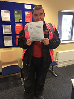 Matthew Axeford: Passed his A2 Licence