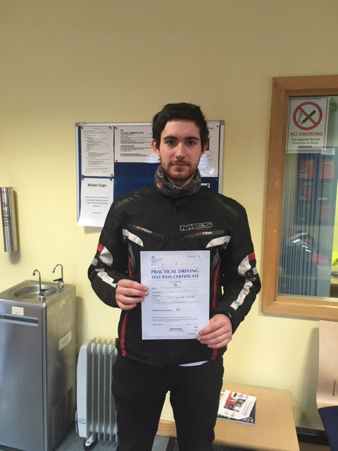 Tudor Sinderby: Passed his A2 Licence